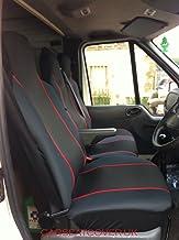 Carseatcover-UK - Fundas de asiento para furgoneta (ajuste universal), color negro y rojo