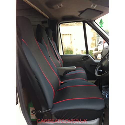 Grey Front Van Single Seat Covers x2 Set Pair For MERCEDES Vito Minibus LWB