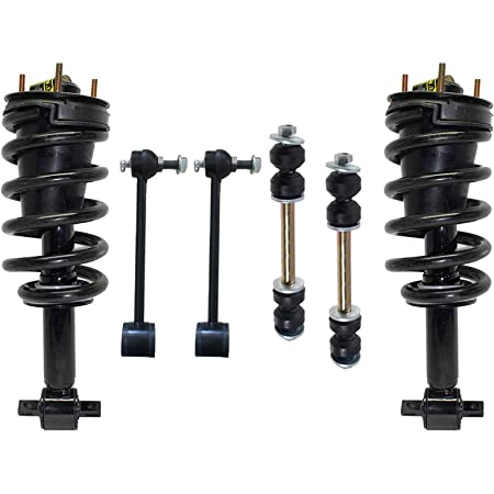 Pair Front Active to Passive Quick Complete Strut Assemblies Conversion Kit Compatible with 2007-2014 GMC Yukon XL 1500