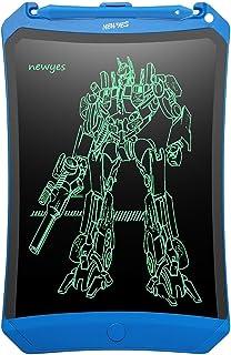 NEWYES Tableta de Escritura LCD de 8,5 Pulgadas - Robot Pad con tecla de Bloqueo y líneas más Brillantes. Util para niños y Adultos en casa, la Escuela o la oficna (Azul)