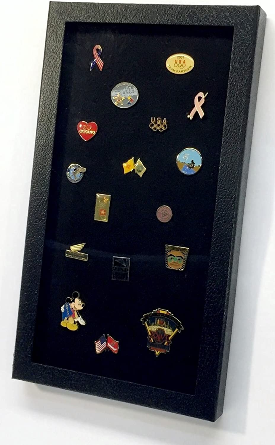 Pin Collector's Display Case by Hobbymaster  for Disney, Hard Rock, Olympic & other collectible pins, holds up to 100 pins