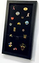 Pin Collector's Display Case - for Disney, Hard Rock, Olympic, Political Campaign & other collectible pins and medals - holds up to 100 pins - felt-covered backing, compact, handy magnetic closure, upright or sideways