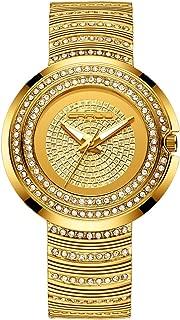CRRJU Women's Luxury Casual Dress Quartz Wristwatches,Women Shining Stainsteel Steel Band Waterproof Watch