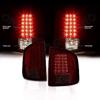 Rxmotor Chevy S10 GMC Sonoma LED Tail Light Rear Signal Brake Lights Taillight (Red Smoke)