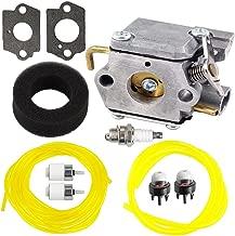 Savior WT-827 TB70SS Carburetor with Gasket Fuel Line Filter for Bolens BL100 Carburetor BL150 BL250 BL410 Yard Man Yard Machines YM70SS 2800m Y28 Y725 YM1000 YM1500 YM320BV YM400 120R 121R