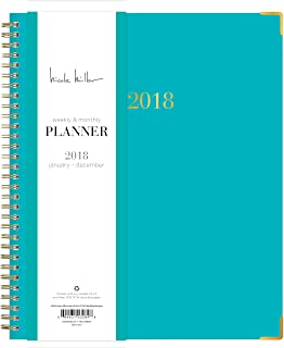 Nicole Miller for Blue Sky 2018 Weekly & Monthly Planner, Hardcover, Twin-Wire Binding, 8
