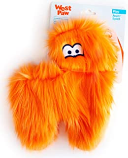 West Paw Hamilton, Rowdies with HardyTex and Zogoflex, Plush Dog Toy, Orange Fur