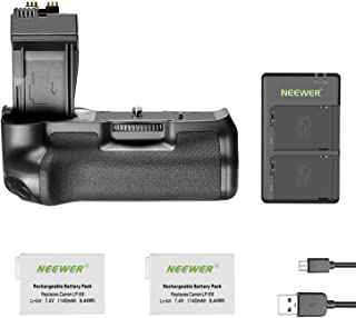 Neewer BG-E8 Replacement Battery Grip for Canon EOS 550D 600D 650D 700D Rebel T2i T3i T4i T5i DSLR Cameras, Comes with 2-Pack 1140 mAh LP-E8 Replacement Li-ion Battery and Dual Battery Charger