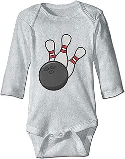 Newborn Infant Baby Bowling Pin Bowling Balls Long Sleeves Romper Jumpsuit Sleepwear