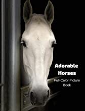 Adorable Horses Full-Color Picture Book: A Horse Picture Book for Children, Seniors and Alzheimer's Patients
