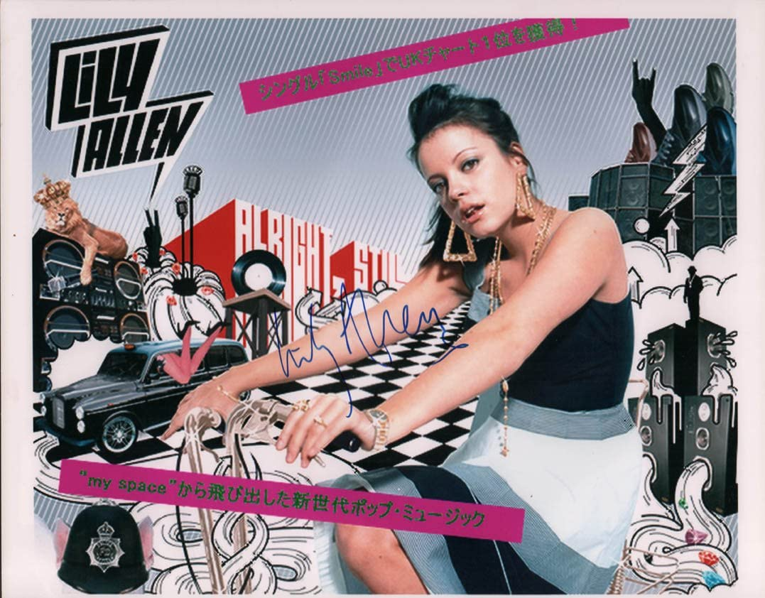 Super Max 49% OFF popular specialty store Lily Allen Autographed Signed 11x14 Still AFTAL Photo Alright