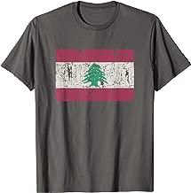 Vintage Lebanese Flag Of Lebanon Souvenir Gift Men Women T-Shirt