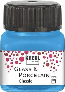 KREUL 16219 – Glass & Porcelain Classic Bleu Clair dans Un Verre de 20 ML, Peinture Brillante à Base d'eau, séchage Rapide...
