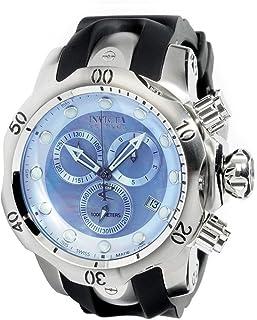 [インビクタ]Invicta 腕時計 ベノム コレクション Venom Collection 6118 リザーブ RESERVE クロノグラフ ブラック / シルバー ブルーパールダイアル スイス製クォーツ メンズ 【並行輸入品】