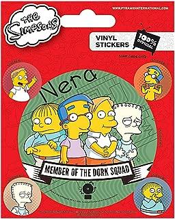 Set of 5 Genuine The Simpsons Dork Squad Vinyl Stickers Gadget Decals