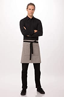 Chef Works Unisex Portland Half Bistro Apron, Black, One Size