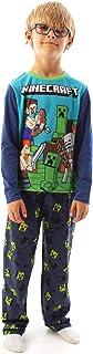 Minecraft Conjunto de Pijama Azul de Manga Larga para niño Steve and Creeper
