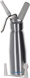 Large Stainless Steel Whipped Cream Dispenser Canister (1 Pint) - Professional quality cream whipper and maker will whip one pint of liquid into two quarts of cream