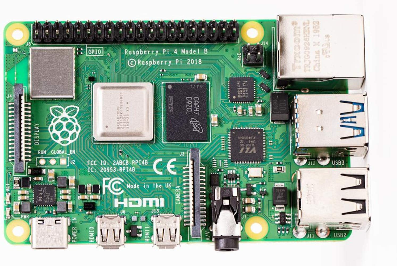 Raspberry Pi 4 Computer Model B 8GB Single Board Computer Suitable for Building Mini PC/Smart Robot/Game Console/Workstation/Media Center/Etc.