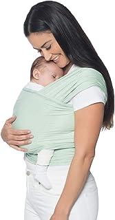 Ergobaby 婴儿背带适合新生儿至11公斤的宝宝,婴儿背带采用弹性面?#29616;?#25104;,* 粘?#21512;?#32500;,男女皆宜 淡紫色(Sage)
