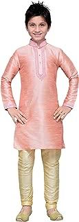 Kids Kurta Pajama Set Eid Festival Ethnic Wear Dupion Silk Fabric Party Dress