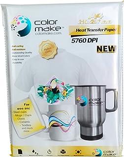COLOR MAKE - Caja de 8 Paquetes de Papel de Sublimación Premium   Tamaño A4-100 hojas   Papel para Sublimar en Textil, Taz...