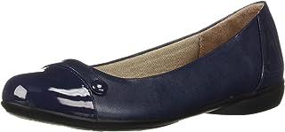 حذاء باليه مسطح للنساء من LifeStride, (كحلي), 36 EU