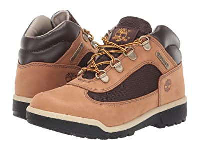 Timberland Kids Fabric/Leather Field Boot (Little Kid) (Medium Beige Nubuck) Kids Shoes