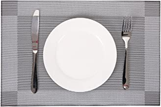 Kaixiang Textilene Fabric,PVC Place mat,Placemats for Dining Table,Placemats,Heat-Resistant Placemats, Stain Resistant Washable PVC Table Mats,Kitchen Table mats,Sets of 4