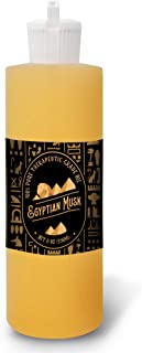 Bargz Egyptian Musk Oil [Relaxing Scent] - Plastic Fliptop Bottle Organic Pure Therapeutic French for Diffuser, Aromatherapy, Headache, Pain, Sleep-Perfect for Candles & Massage (8 oz)