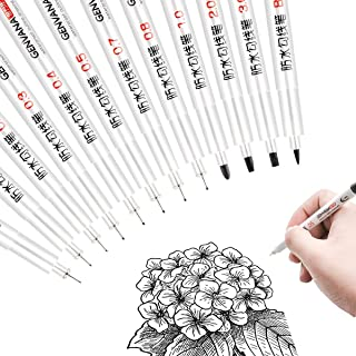 Black Precision Micro Line Pens,Apply toTechnical,Drawing,Office Documents, Scrapbooking,Technical Drawing,Ultra Fine Point Drawing Pen Set,12/Set