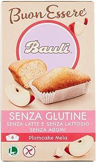 Bauli Plumcake Senza Glutine, Gusto di Mela, 4 x 33g