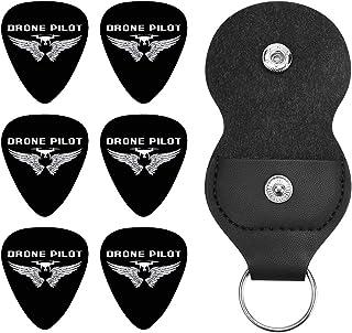 Drone Pilot ドローンパイロット ギターピック オシャレ ベース、カポタスト ギター、カポ アコースティックギター、ウクレレ、エレキギター用 ピック トライアングル 6枚セット プレゼント 0.71mm
