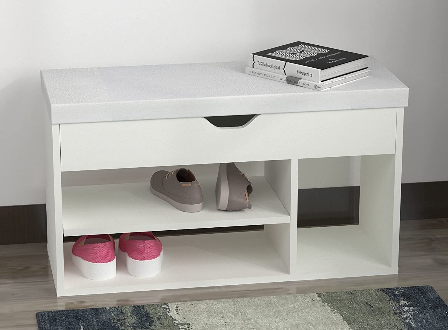 REMMUS お値打ち価格で Entryway Shoe Bench with Padded Seat Cushion Storage 低価格化 Ben