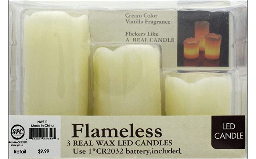 PA Essentials NWS11 Candle Dripping Wax Look Ivory