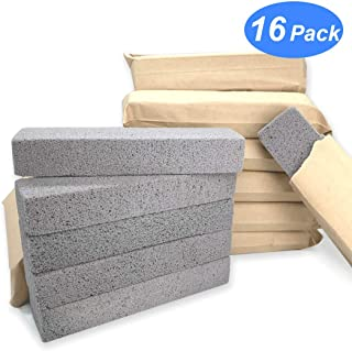Pumice Stone Toilet Bowl Cleaner - Non Scratch Scouring Pad for Cleaning Hard Water Stain Remover Bulk Pack of 16