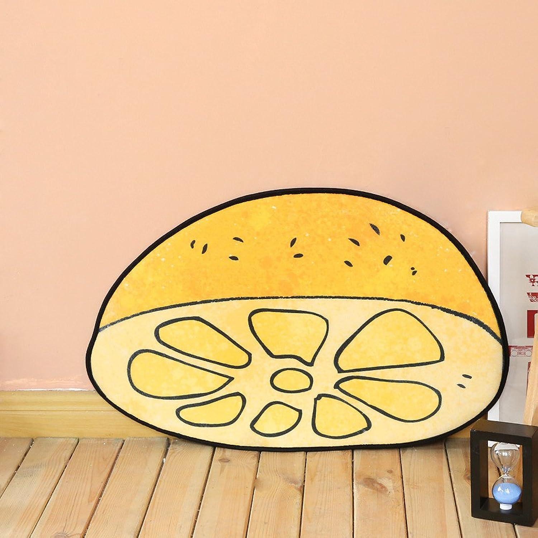 eeb48b0f5b52 ChezMax Half Yellow Lemon Pattern Chenille Non Slip Doormat Outside ...