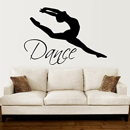Dancing Wall Decals Girls Ballet with Music Design Home Decor for Girls Stickers