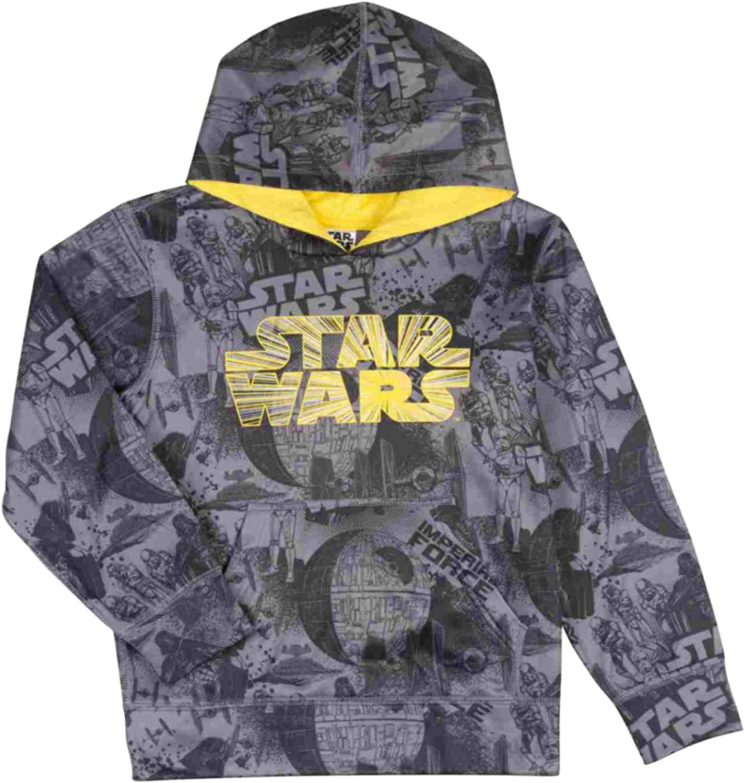 Star Wars Boys Gray Imperial Force Pullover Hoodie Sweatshirt XS