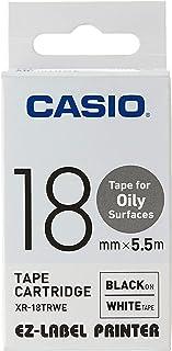 Casio XR-18TRWE Oil Resistant Tape, 5.5 m New, 0.04 kilograms