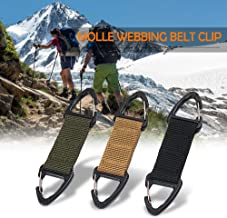 Lixada Multifunctional Molle Webbing Belt Clip Climbing Carabiner Buckle High Strength Nylon Hanging Chain Backpack Key Hook