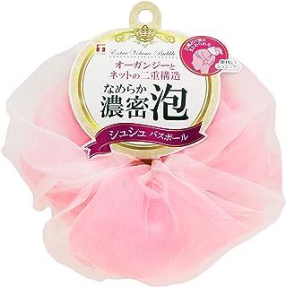 東和産業 泡立てネット シュシュ バスボール ピンク 直径約14cm