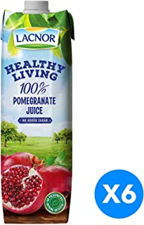 Lacnor Healthy Living Pomegranate Juice - Pack of 6 Pieces (6 x 1 Liter)