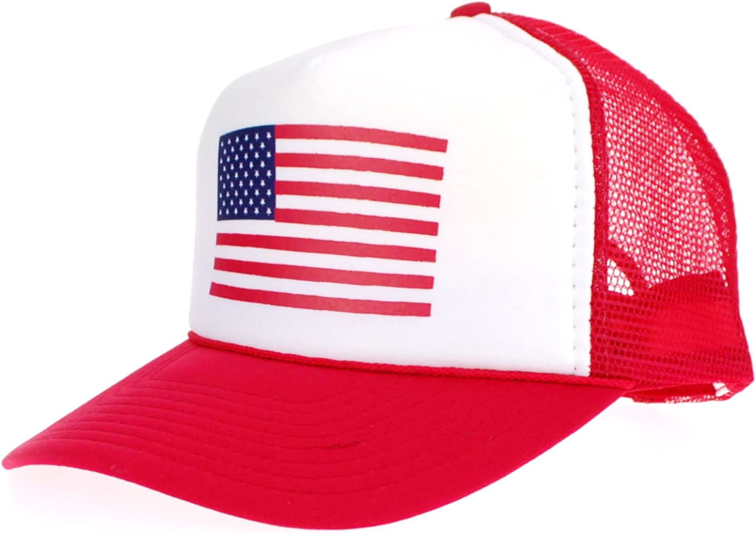 American Max 40% OFF Flag Patriotic USA Classic Recommendation 5 Truck Mesh Back Panel Snap