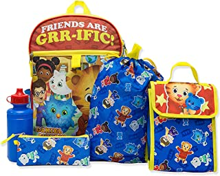 Daniel Tiger Girl's Boy's 5 piece Backpack and Snack Bag Set