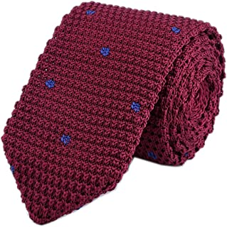 Men's Skinny Smart Knit Ties Vintage Casual Formal Basic Designed Neckties 2.4