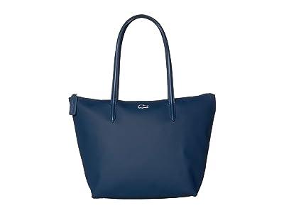 Lacoste L.12.12 Concept Small Shopping Bag (Vertige Dark) Handbags