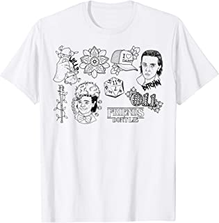Stranger Things Day Friends Don't Lie Doodles T-Shirt
