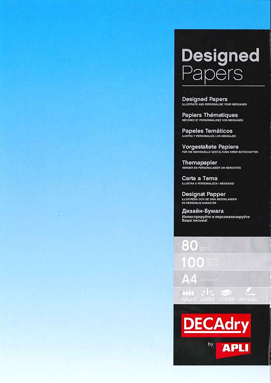 Decadry Urkundenpapier, 5 Papiere der Kommunikation Kommunikation Kommunikation A4 80 g 100 Blatt Farbverlauf Vorderseite blau B017XW95TY | Ab dem neuesten Modell  c56caa