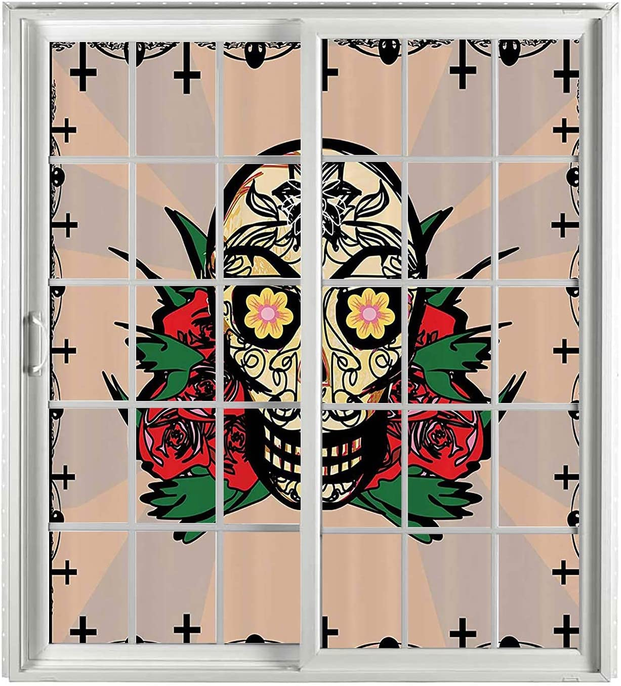 Mexican Decorations Bathroom Window Privacy 70% OFF Mesa Mall Outlet Multi Film Set 2 PCS